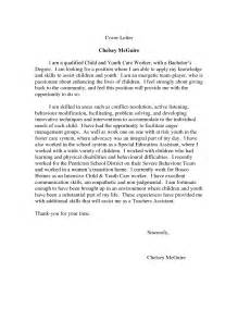 Child Caretaker Cover Letter by Sle Child Care Worker Cover Letter Haadyaooverbayresort