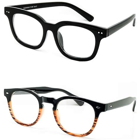 Frame Unisex Fashion 6752 Coklat Box Fashion glasses neutral mod depp spectacles frame style moscot vintage ebay