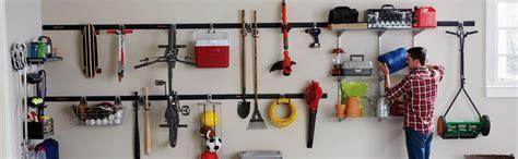 Garage Organization Rail Systems Rubbermaid Fast Track Garage Storage System