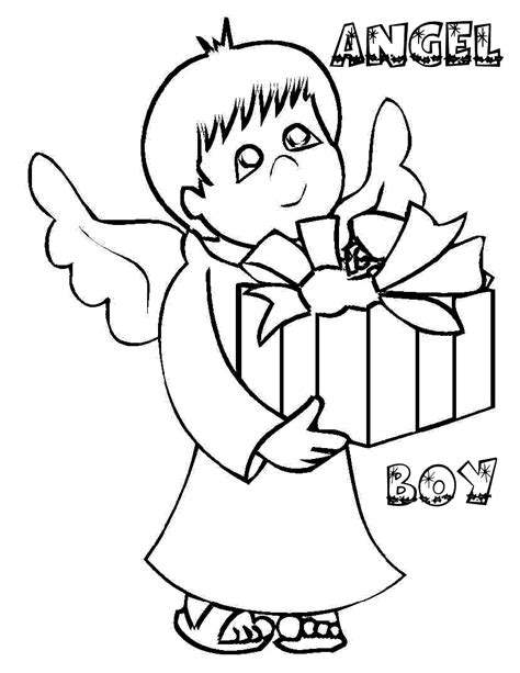 angel coloring pages for preschool beautiful angel boy coloring pages for preschoolers