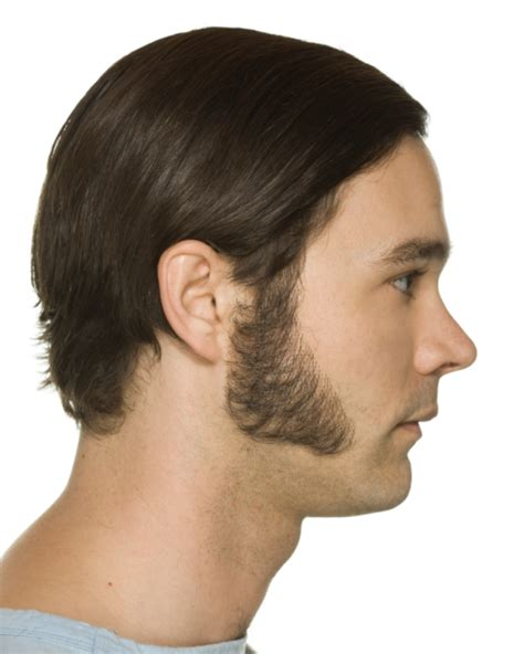 mongolian triangle hair patch large triangle sideburns john blake s wigs and facial hair