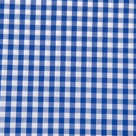 gingham pattern poly cotton gingham 1 4 quot fabric royal width 112cm