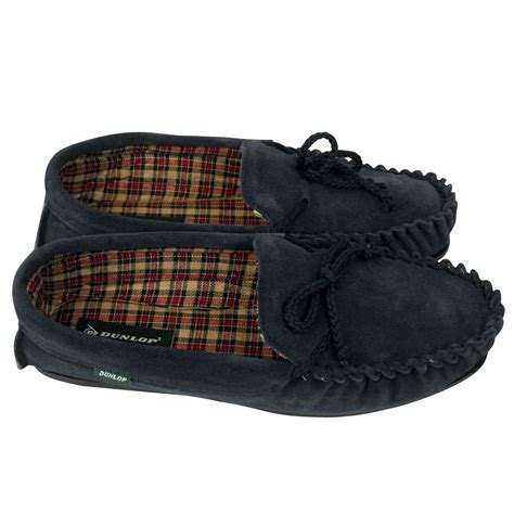 gents slippers leather mens dunlop moccasin suede leather slippers gents
