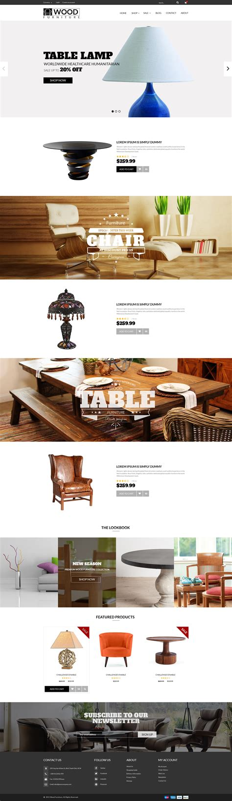 shopify themes furniture parallax shopify theme wood furniture decoration by