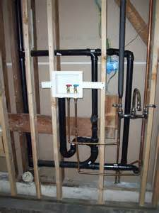 washing machine and sink dwv plumbing relocation will