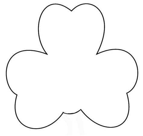 printable shamrock template st patricks day crafts print your large shamrock