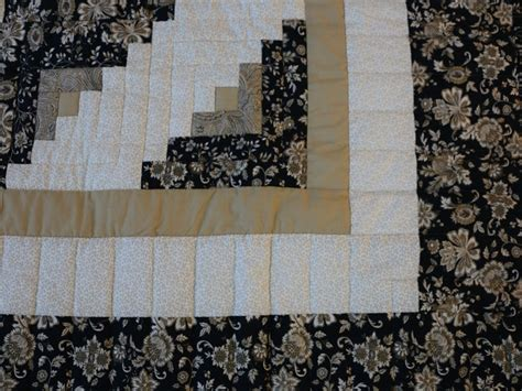 Lone Log Cabin Quilt Pattern by Lone Log Cabin Quilt Marvelous Meticulously Made
