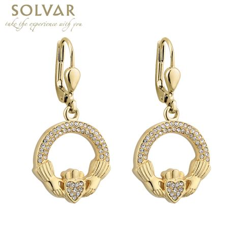 earrings gold plated claddagh earrings at
