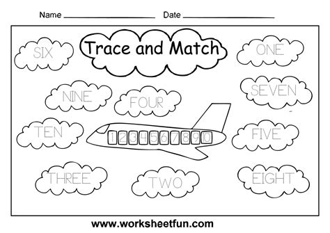 Number Words Worksheet 1 10 by 7 Best Images Of Printable Number Words Worksheets