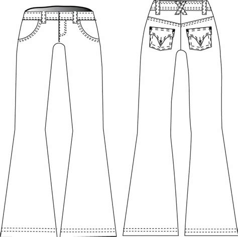 bootcut jeans sewing pattern the slender bell jean aw4211 digital pdf version