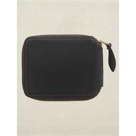 Wolf Doberman Leather Pull Up 02 rrl leather zip wallet in black for lyst