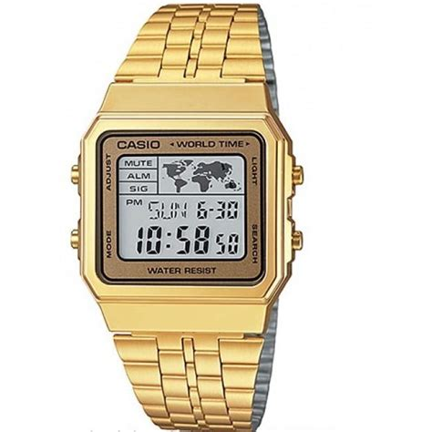 casio general a500wga 9d retro gold digital johor
