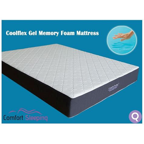 Cooling Gel Memory Foam Mattress by Size Deluxe Cool Gel Memory Foam Mattress Buy