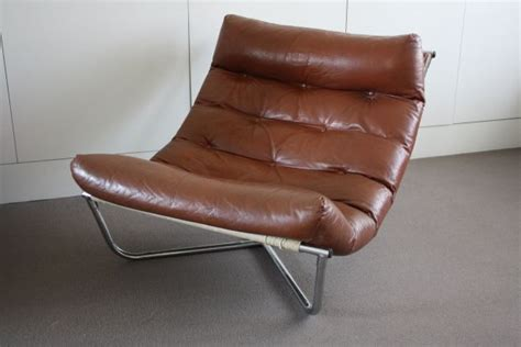 Leather Swing Chair by Interesting Chrome And Leather Swing Chair From 70 S