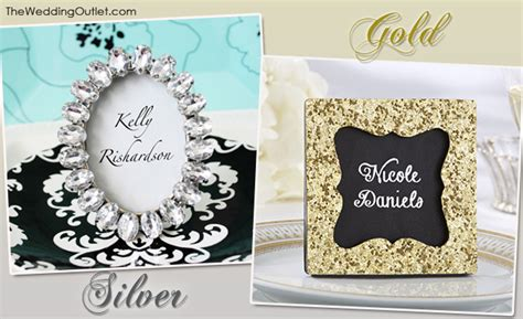 meserticom favorwarehouse elegant silver place card sparkling gold and silver place card frames