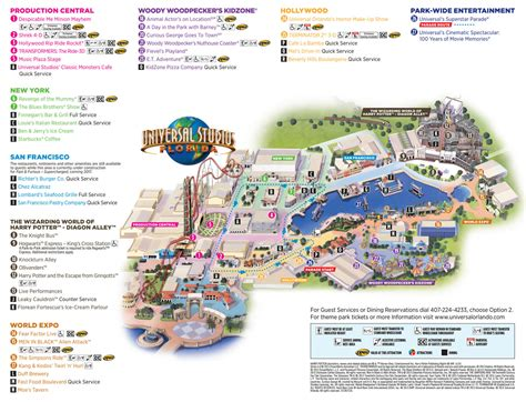 theme park list usa popular 196 list universal studios map pdf