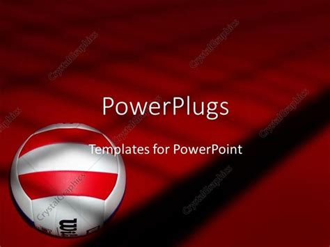 powerpoint template volleyball on red and black