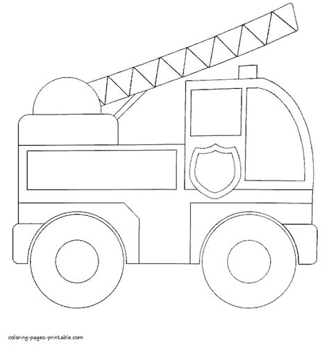 simple fire truck coloring page simple fire truck coloring pages for toddlers