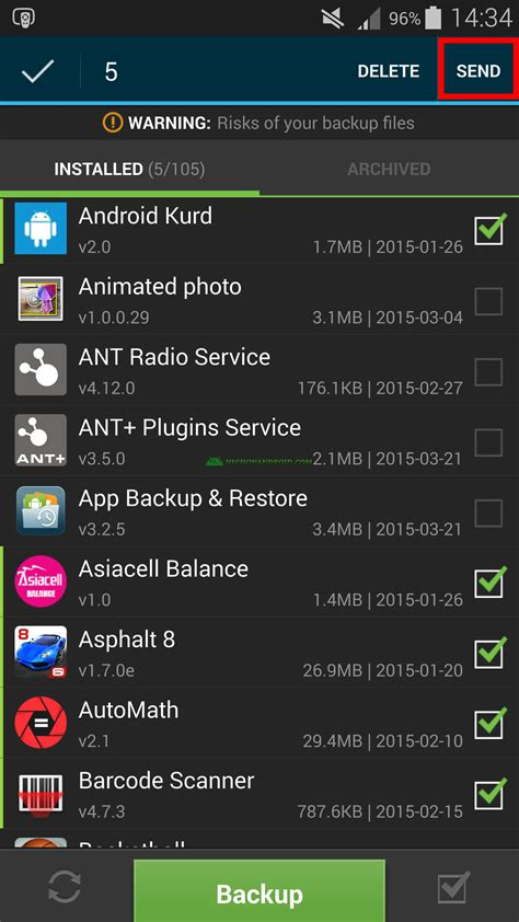 guide how to backup restore android apps no root required howto highonandroid - Restore Apps Android