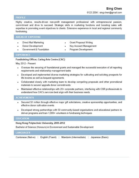 Fundraising Letter Ngo fundraising officer cv ctgoodjobs powered by career times
