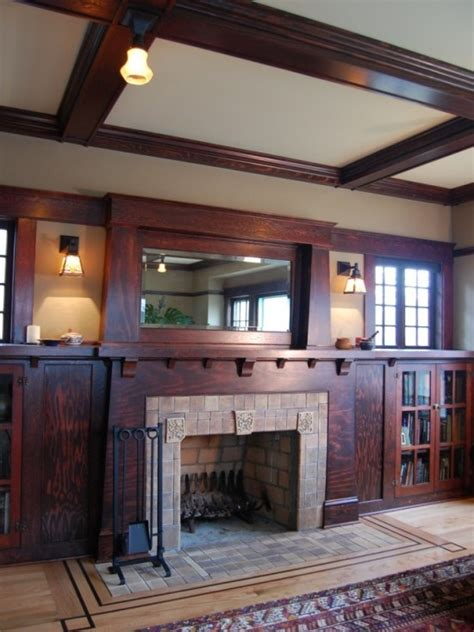 Arts And Craft Bookcase Craftsman Fireplace Design For The Home Pinterest