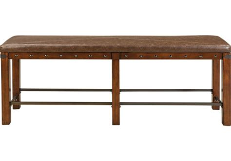 counter height storage bench red hook pecan grayish brown counter height bench