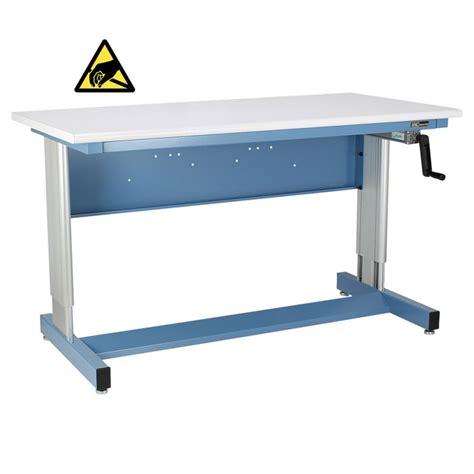 hand crank adjustable height desk iac hand crank height adjustable industrial workbench
