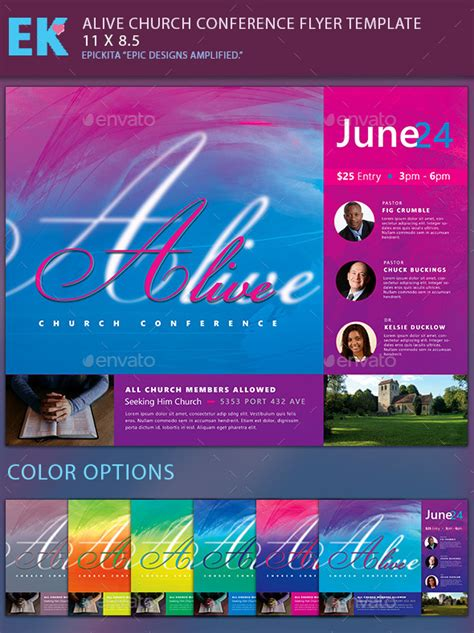 Alive Church Conference Flyer Template By Epickita Graphicriver Church Conference Poster Template