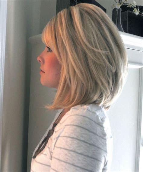 shoulder length inverted bob haircut over 50 asymmetrical shoulder length haircut bob women hairstyles