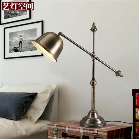 space antique brass lamp art lamp bedroom bedside lamp ikea study decorative wrought iron