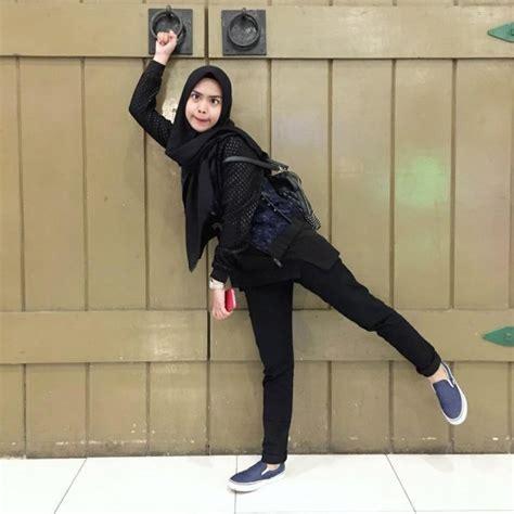 style hijab ala ria ricis simpel  mudah ditiru