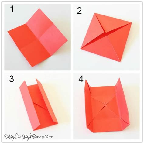 Origami Message - diy origami gift box for s day