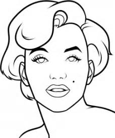 drawing printout how to draw marilyn monroe easy