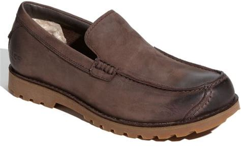 ugg loafers for ugg plainson loafer in gray for stout lyst
