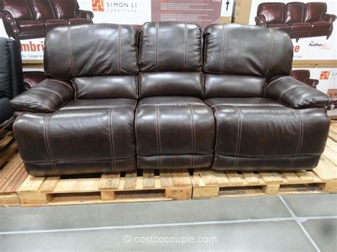 costco leather recliner sofa furniture decor