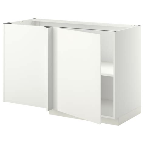 ikea bathroom corner cabinet metod corner base cabinet with shelf white h 228 ggeby white