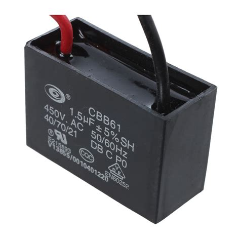 fan capacitor name 450v 1 5uf 50 60hz fan motor run capacitor cbb61 dt ebay