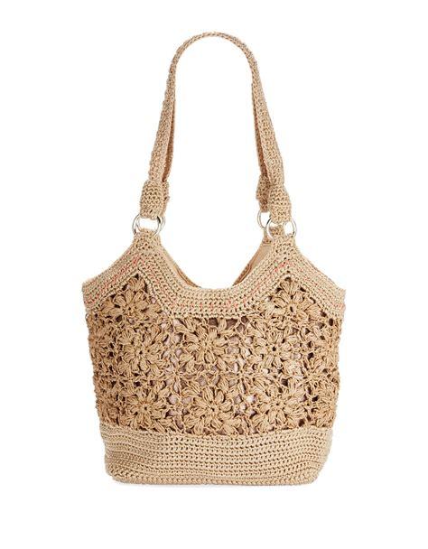 Sak Shopper Bag the sak ellis small shopper bag in beige sand stripe lyst