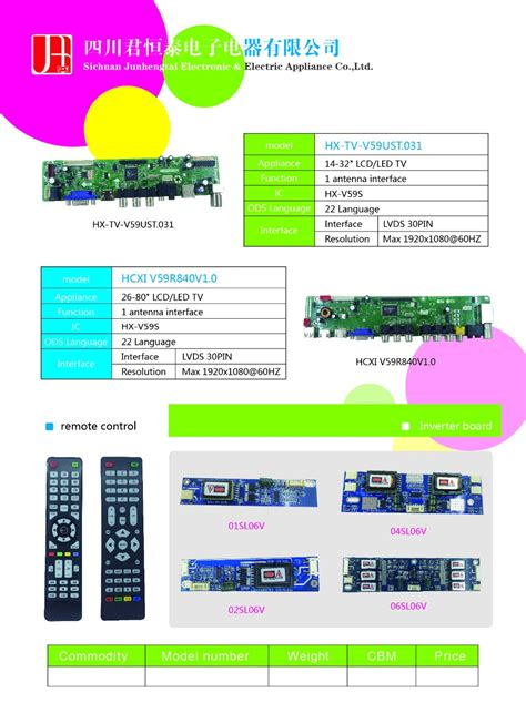 Spare Part Lcd Samsung 32 universal 14 32 quot led tv samsung tv parts view samsung tv