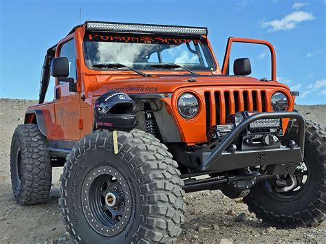 Jeep Tj Lights Jeep Tj Brow Mount Kit Black Rigid Industries