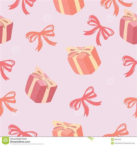 seamless ribbon pattern seamless pattern of gift box and ribbon bow pattern stock