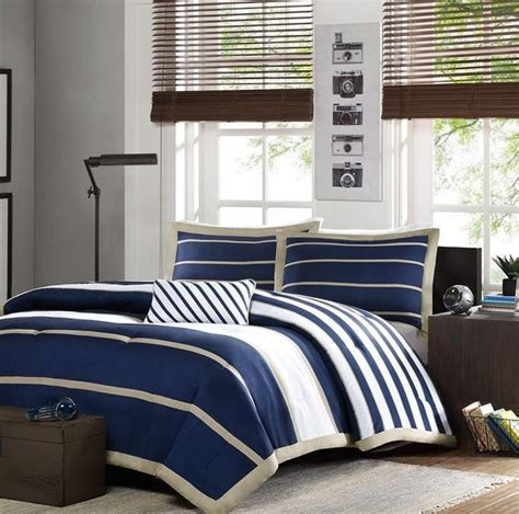 boy bedspreads and comforters white striped sports navy blue and white striped bedding modern blue white navy