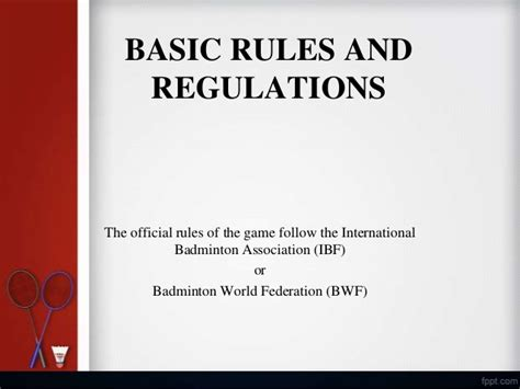 and regulations basic and regulations
