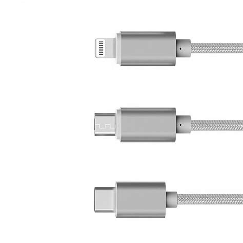 Wuw Metal Kabel Data Micro Charger For Android With Leather Pouch jual kabel data 3in1 metal braided usb to micro usb lightning usb type jatech shop