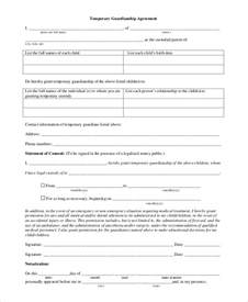 sle temporary guardianship form 10 exles in pdf word