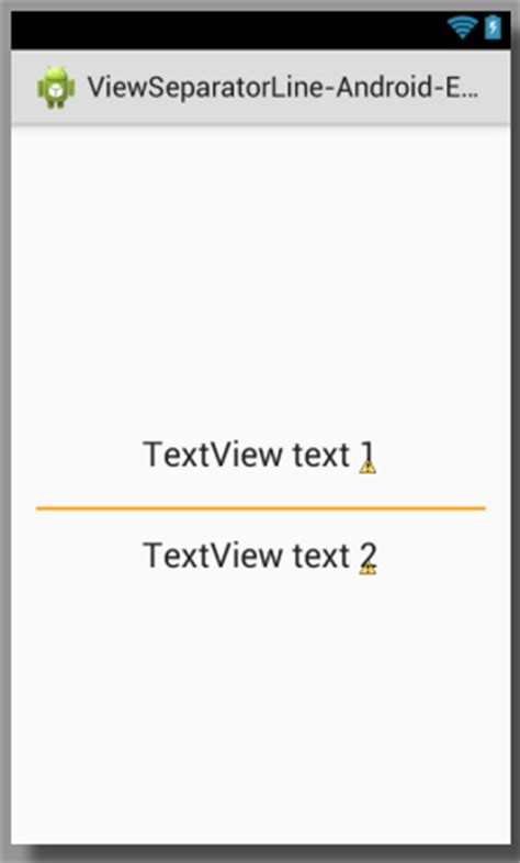 Android Layout Xml Draw Line | create view separator horizontal line in android using xml