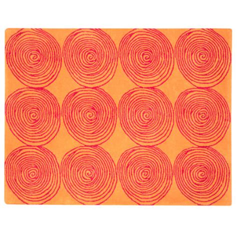 orange circle rug rugs room decor