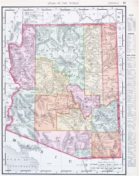 united states map arizona map of arizona