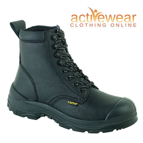 Azcost Delta Safety Leather Suede delta plus capps globe trotters safety steel toe cap work
