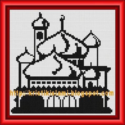 kristik islami pola kristik gratis masjid